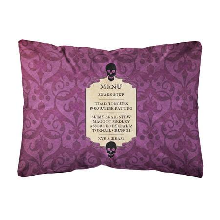 Goulish Menu including Eye Screen Snake soup Halloween Canvas Fabric Decorative Pillow](Halloween Menu Wording)
