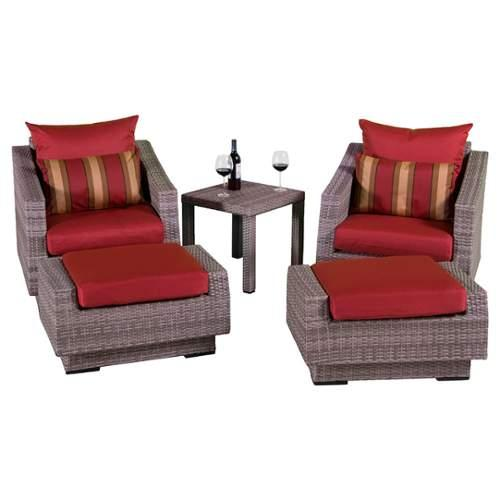 5-Pc Outdoor Seating Set in Cantina Red