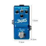 Rowin LN-321 Blues Pedal Wide Frequency Response Blues Style Overdrive Effect Pedal for Guitar