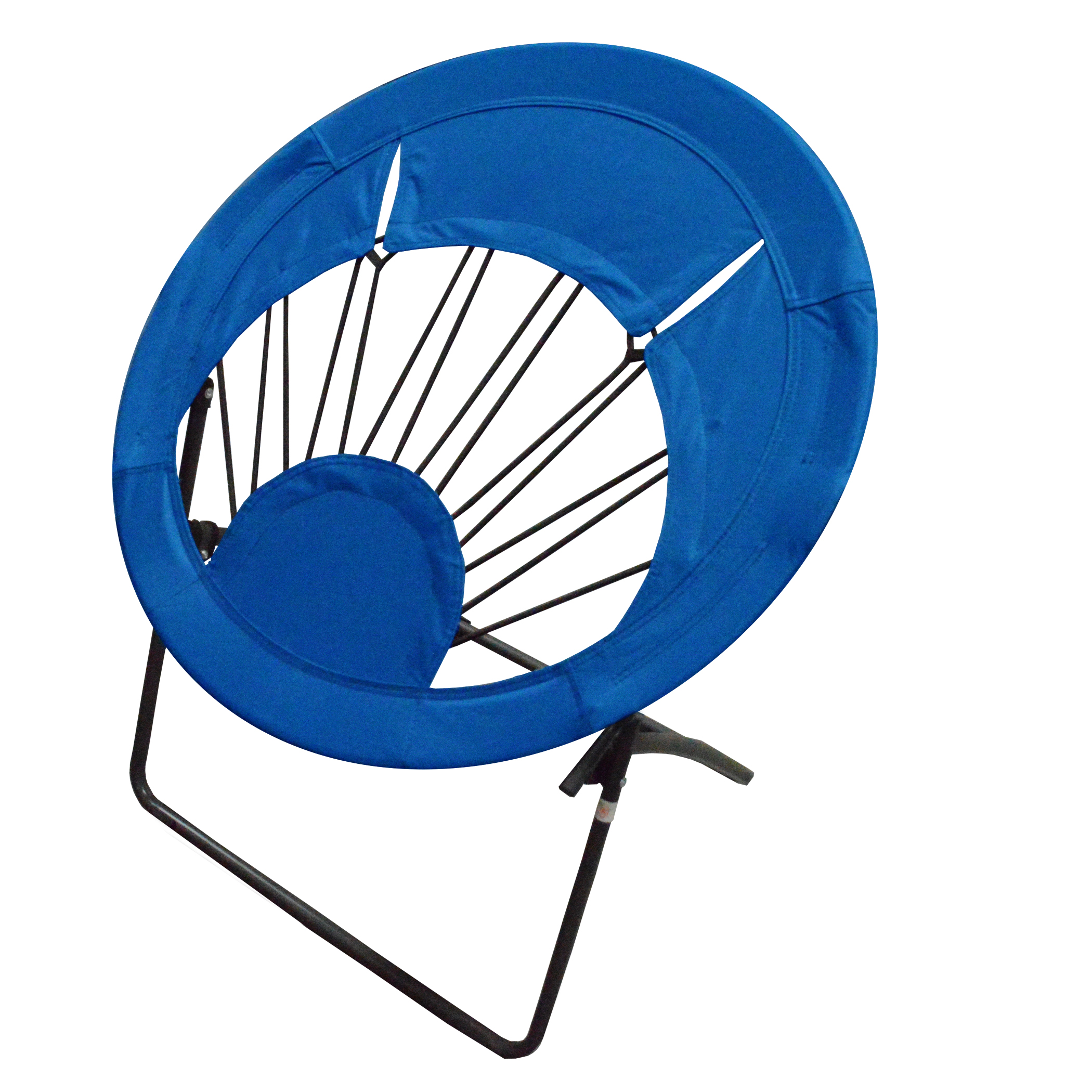 Bungee Chair Folding Round Steel Frame, Multiple Colors