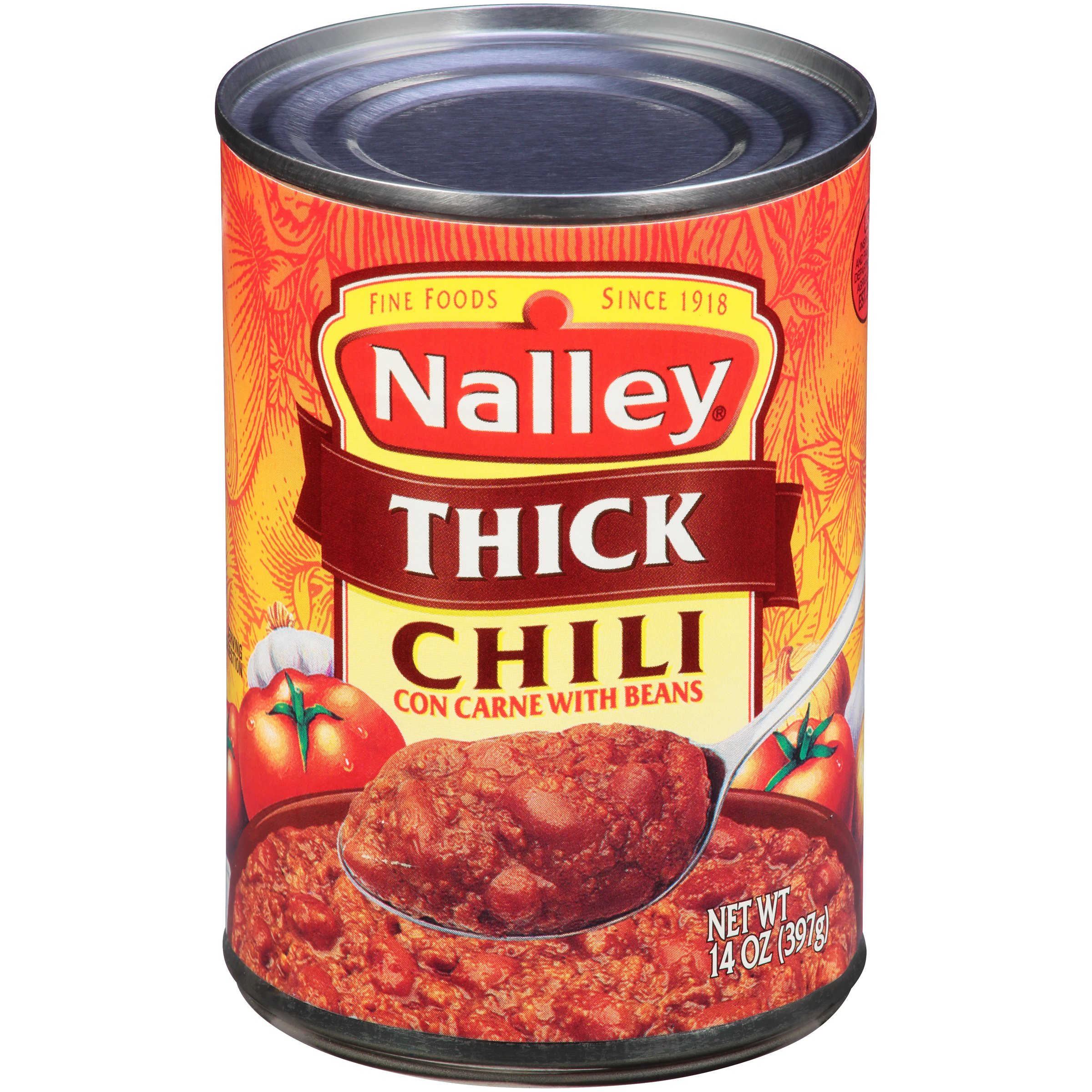 (6 Pack) Nalley Thick Chili Con Carne With Beans, 15 Oz