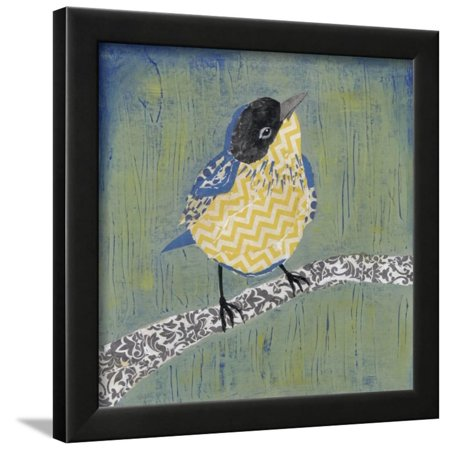 Patchwork Wren II Framed Print Wall Art By Grace Popp - Grace Quilt Frames