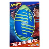 Nerf Sports Weather Blitz Football (blue), for Kids Ages 5 and Up