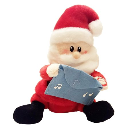 Berrie Sing-A-Lings Plush Singing Gift Card Holder (Santa), Contains 3 AAA batteries By