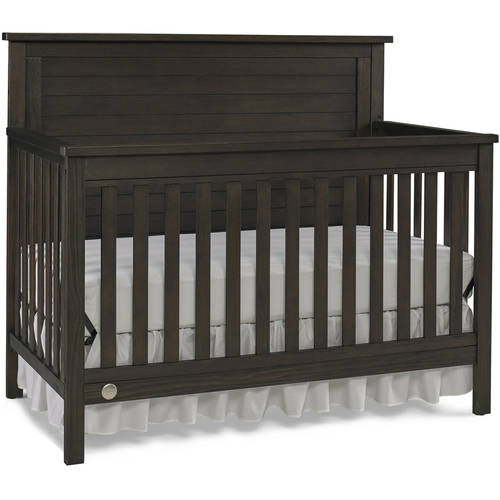 Fisher-Price Quinn 4-in-1 Convertible Crib, Wire Brushed Brown