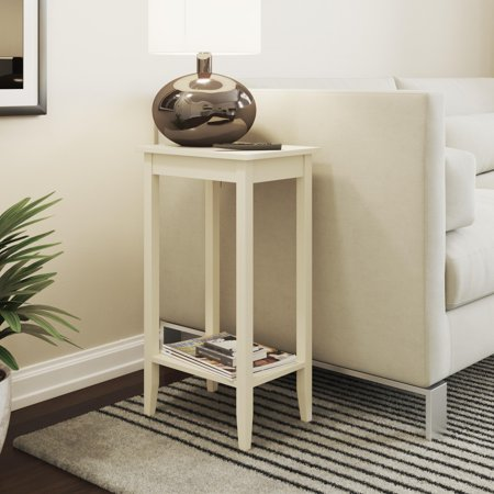 DHP Rosewood Tall End Table, White
