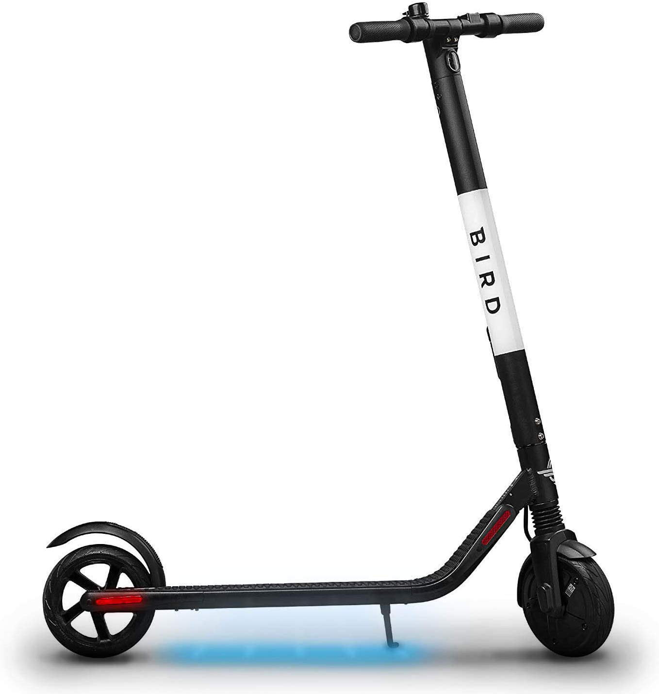 Bird ES1-300 Electric Scooter-300 Watt Motor, Ground Effect Lights, Front Shock Absorption, UL-2272 Approved, 15.5 MPH and 15.5 Mile Range, Ultra-Lightweight, Electric Scooter for Adults - Walmart.com