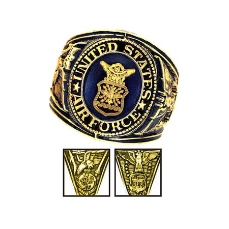 Official US Air Force Deluxe Engraved Gold Color