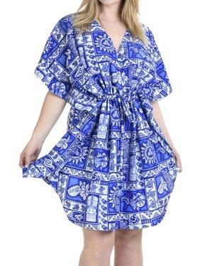 Hawaiian Designed Womens Caftan Party Boho Evening Gown Mini Short Tunic Dress Kaftan For Women