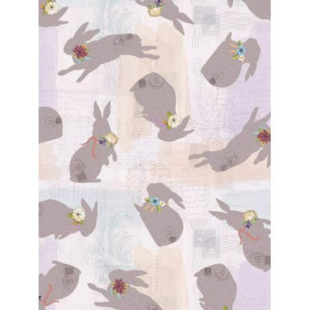 Burlap Bunnies pattern 1 Print Wall Art By Holli Conger