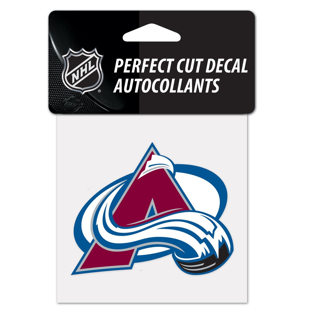 Colorado Avalanche Official NHL 4 inch x 4 inch  Die Cut Car Decal by Wincraft