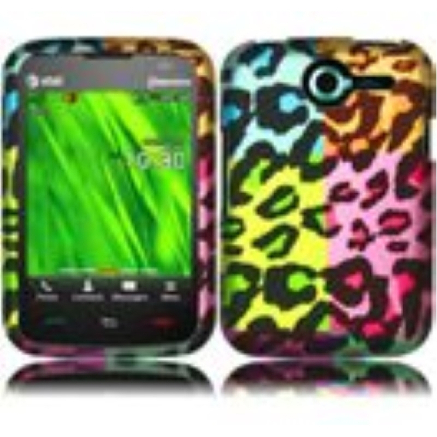 Insten For Pantech Renue P6030(AT&T) Rubberized Design Phone Hard Case Colorful Leopard