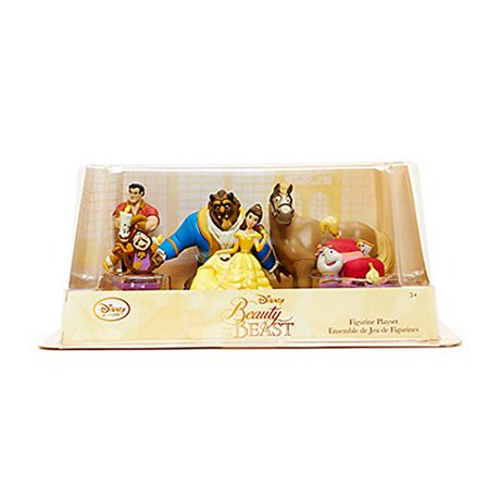 Disney Store Beauty And The Beast Figure Play Set   6 Piece