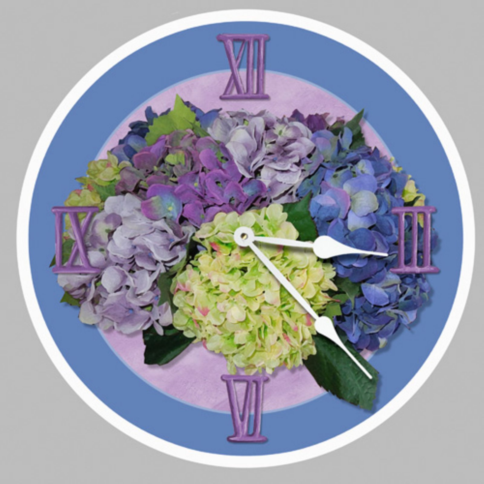 Lexington Studios Purple Hydrangea Wall Clock