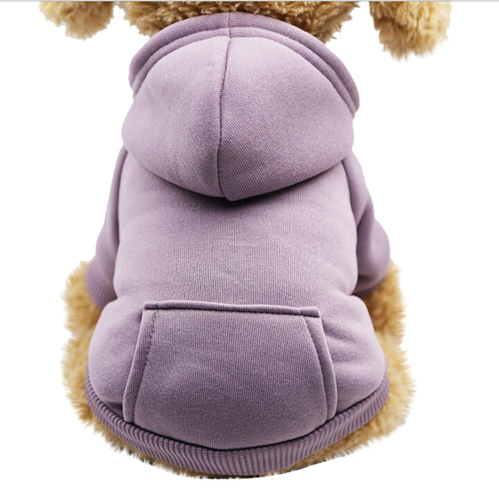 Polyester Hoodied Sweatshirts With Pocket Dog Clothes Pet Clothing