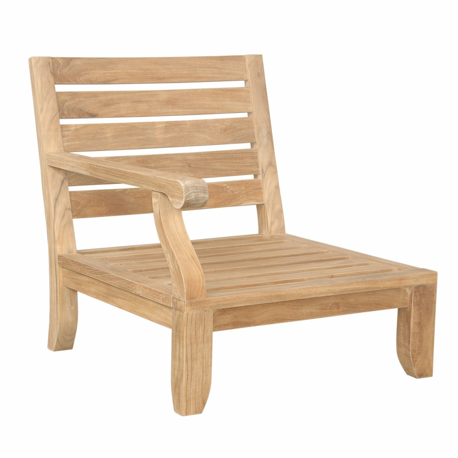 Anderson Teak Riviera Luxe Right Facing Outdoor Modular Chair