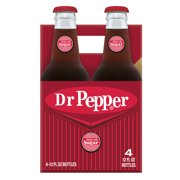 Dr Pepper Made with Sugar Soda, 12 Fl. Oz., 4 Count