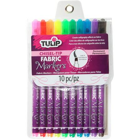 Tulip Chisel-Tip Fabric Markers 10/Pkg-Assorted - image 1 de 1