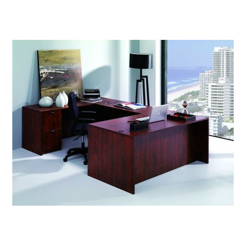 Conklin Office Furniture 5-Piece U-Shape Desk Office Suite
