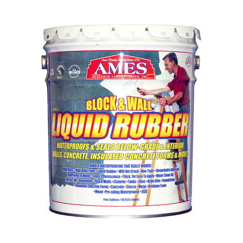 AMES RESEARCH LABORATORIES BWRF5 5GAL White Rubber Coating