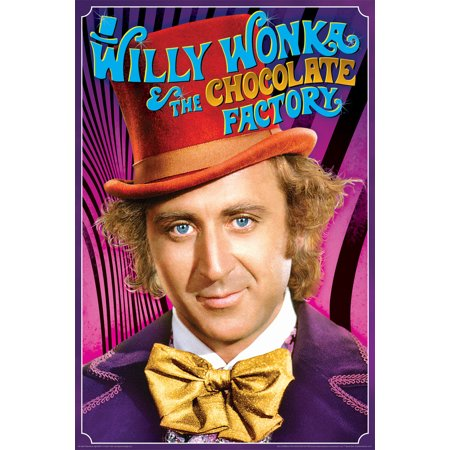 Willy Wonka and the Chocolate Factory Movie Poster 24x36 inch