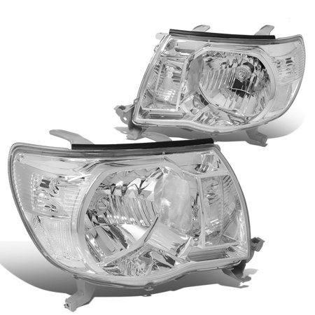 For 2005 to 2011 toyota Tacoma Headlight Chrome Housing Clear Corner Headlamp 06 07 08 09 10