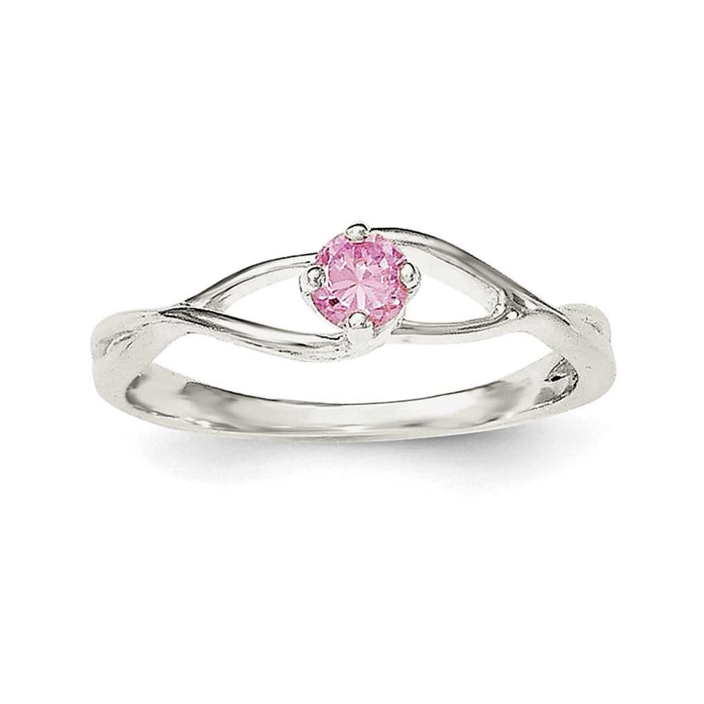 925 Sterling Silver Pink Cubic Zirconia Cz Sol Band Ring Size 6.00 Fine Jewelry Gifts For Women For Her - image 3 of 3