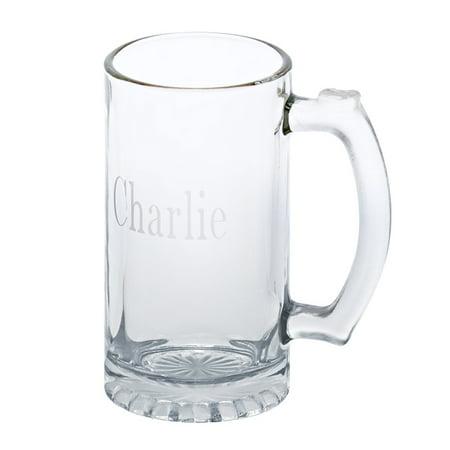 Personalized Bar Glasses (Personalized Monogrammed Glass Pint Tankard 16 Oz )