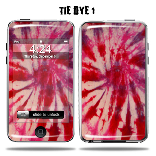 Mightyskins Protective Vinyl Skin Decal Cover for Apple iPod Touch 2G 3G 2nd 3rd Generation 8GB 16GB 32GB mp3 player wrap sticker skins  - Tie Dye 1