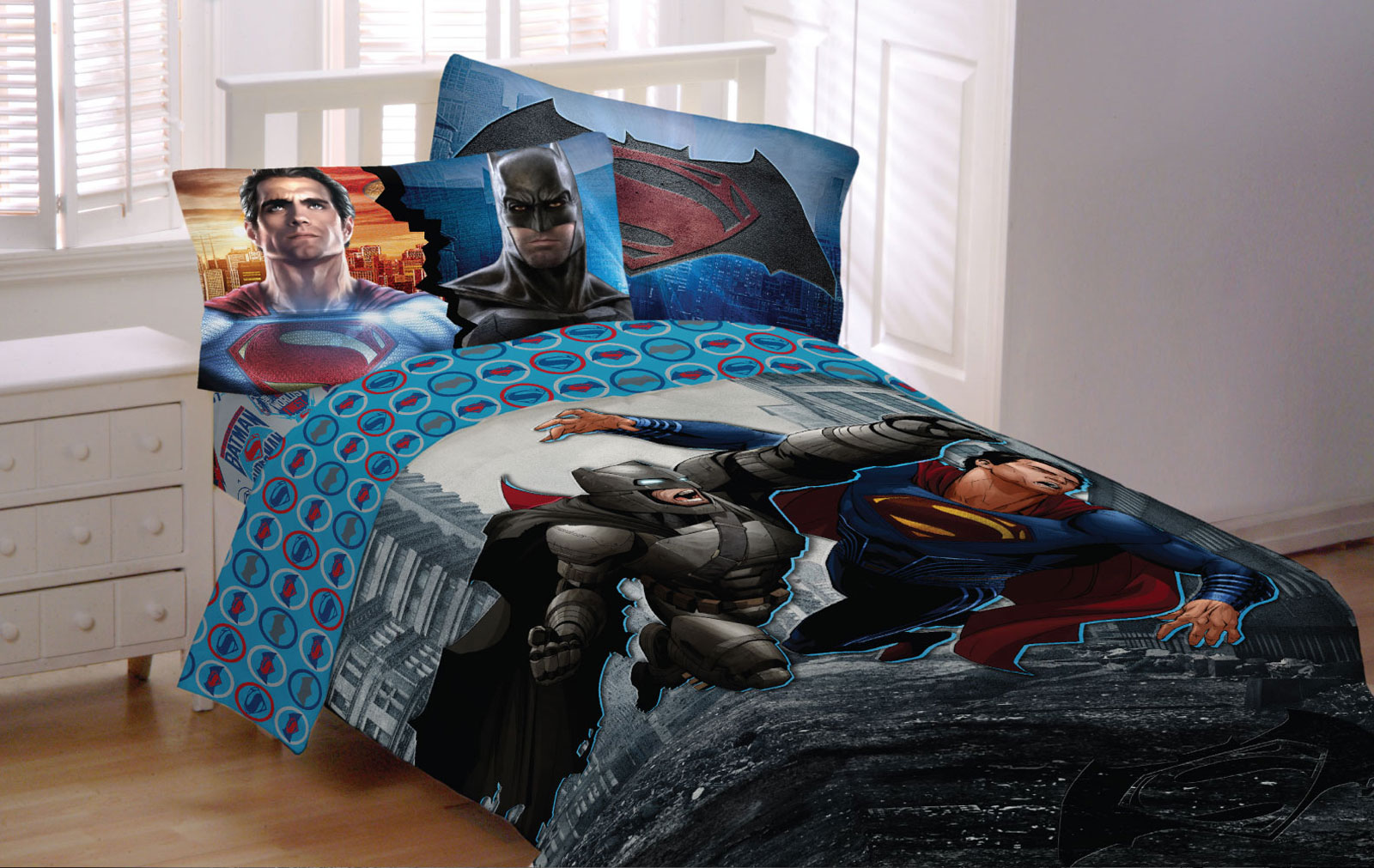 Exceptionnel Store51 Llc 18082816 Batman Vs Superman Bedding Set Worlds Finest Heroes  Comforter And Sheet Set   Walmart.com