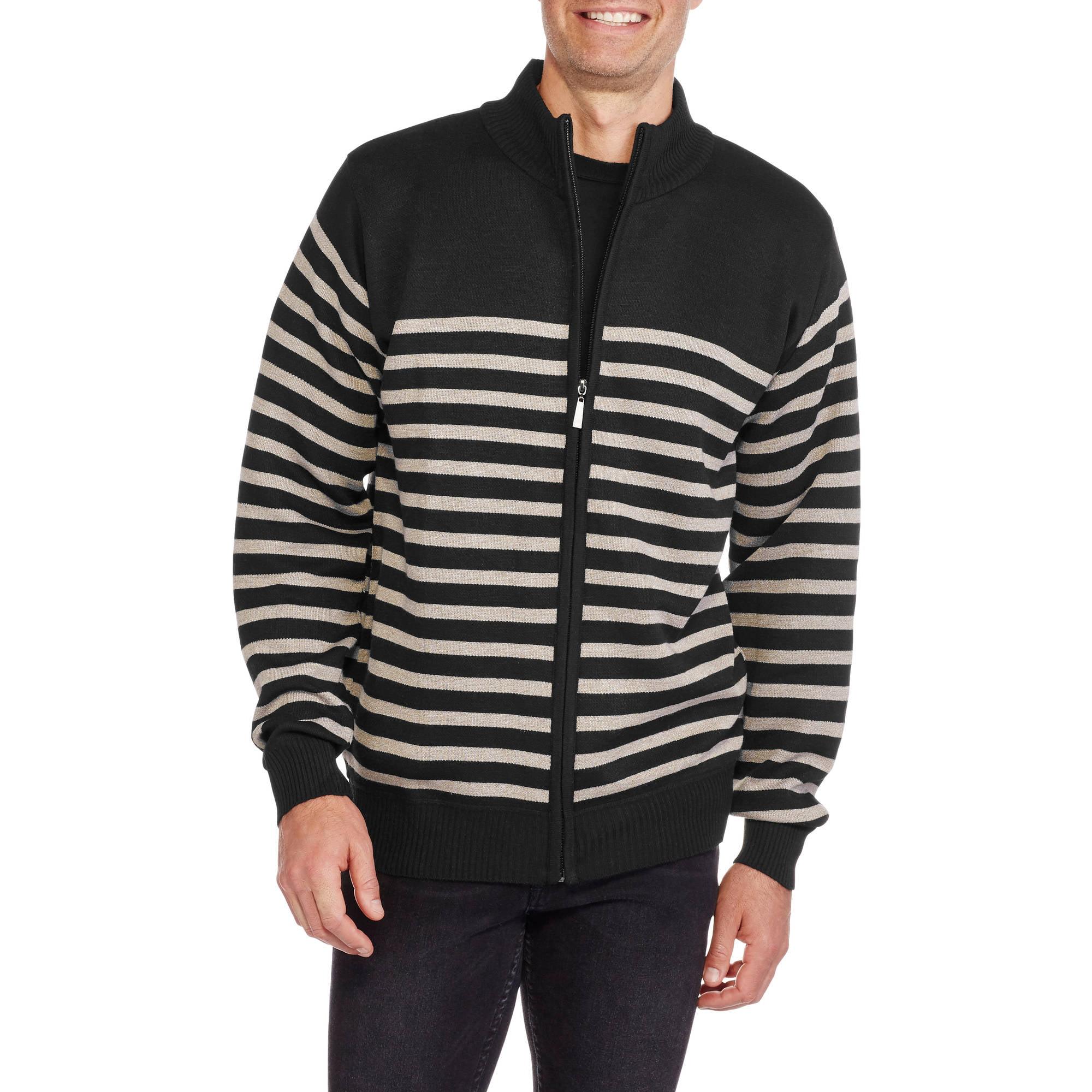 Big Men's Sleeve Full Zip Sweater