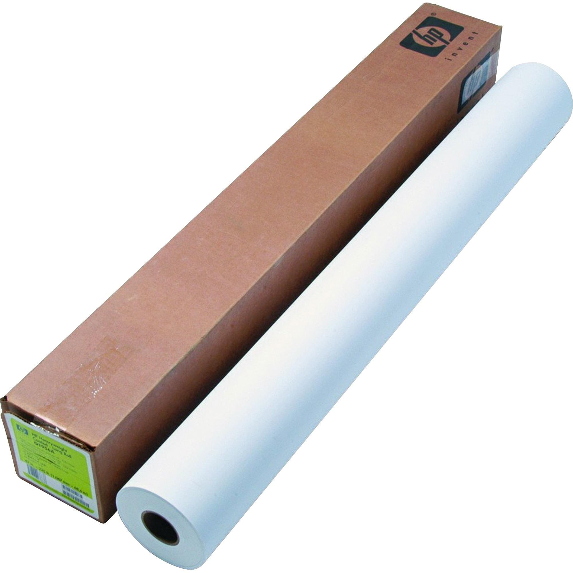 "HP Designjet Inkjet Large Format Paper, 6.6 mil, 42"" x 225 ft, White"