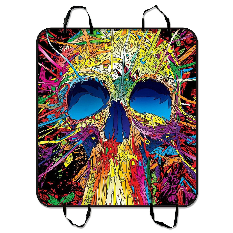 ZKGK Skull Art Dog Car Seat Cover Dog Car Seat Cushion Wa...