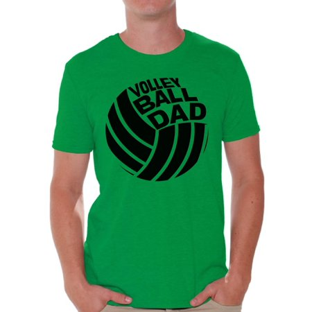 Awkward Styles Men's Volleyball Dad Graphic T-shirt Tops Sport Dad Father`s Day Gift Idea