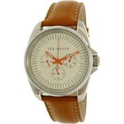 Men's 10025261 Brown Leather Quartz Watch