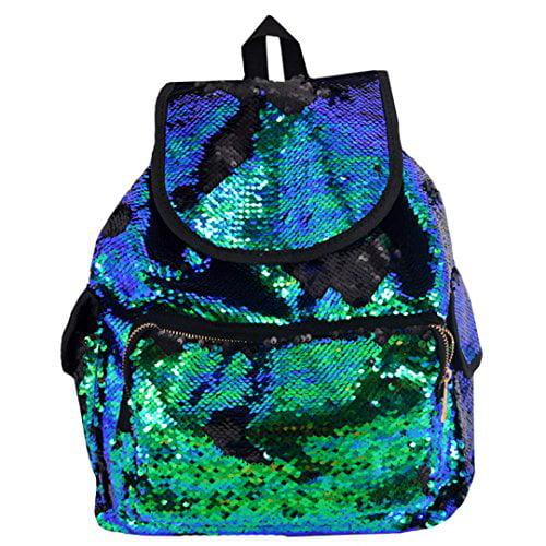 ddbdee5ecef Aisa Women Fashion Sequin Sports Backpack Blue Green Glitter Casual ...