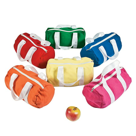 Fun Express - Small Canvas Duffle Bags - Apparel Accessories - Totes - Plain Backpacks - 12 - Small Duffle