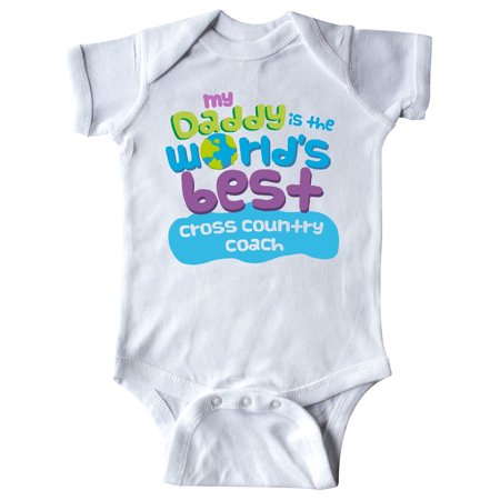 Inktastic Worlds Best Cross Country Coach Daddy Infant