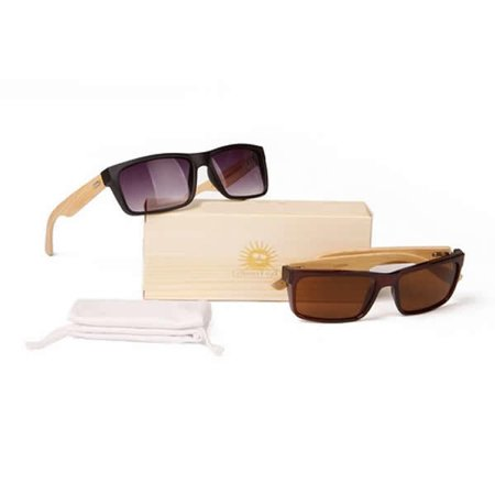 Wanderlust Sunglasses 2 Eco-Friendly Shades Made From Bamboo Wood And Recycled Plastic (Recycled Wood Sunglasses)