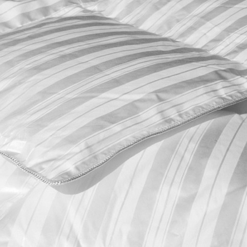 Highland Feather 500 Thread Count Silk Damask Stripe European Summer Down Comforter