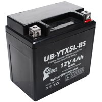 UpStart Battery Replacement 2010 KTM XC ATV 505CC Factory Activated, Maintenance Free, ATV Battery - 12V, 4Ah, UB-YTX5L-BS