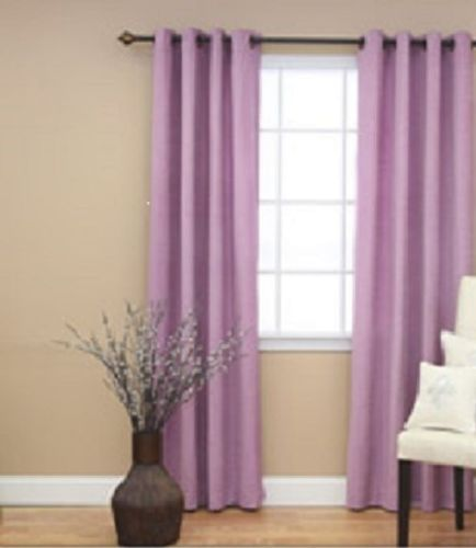 - 1 PANEL Nancy  SOLID LILAC LAVENDER  SEMI SHEER WINDOW FAUX SILK ANTIQUE BRONZE GROMMETS CURTAIN DRAPES 55 WIDE X 95