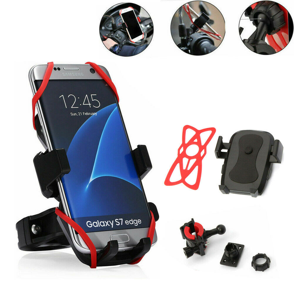 Details about  /Universal Motorcycle Bike Bicycle Handlebar Cell Phone GPS Stand Holder Mount