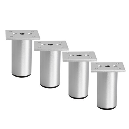 3 Inch Furniture Legs Aluminium Alloy Feet Sofa Table Cabinet Wardrobe Shelves Leg Replacement Adjust Height (Convert 173 Cm In Feet And Inches)