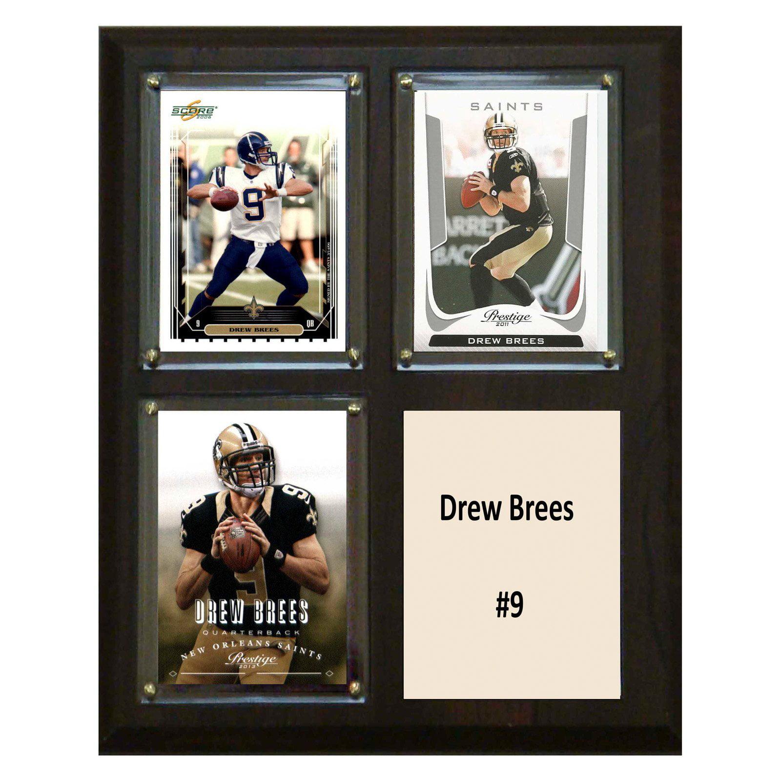 C&I Collectables NFL 8x10 Drew Brees New Orleans Saints 3-Card Plaque