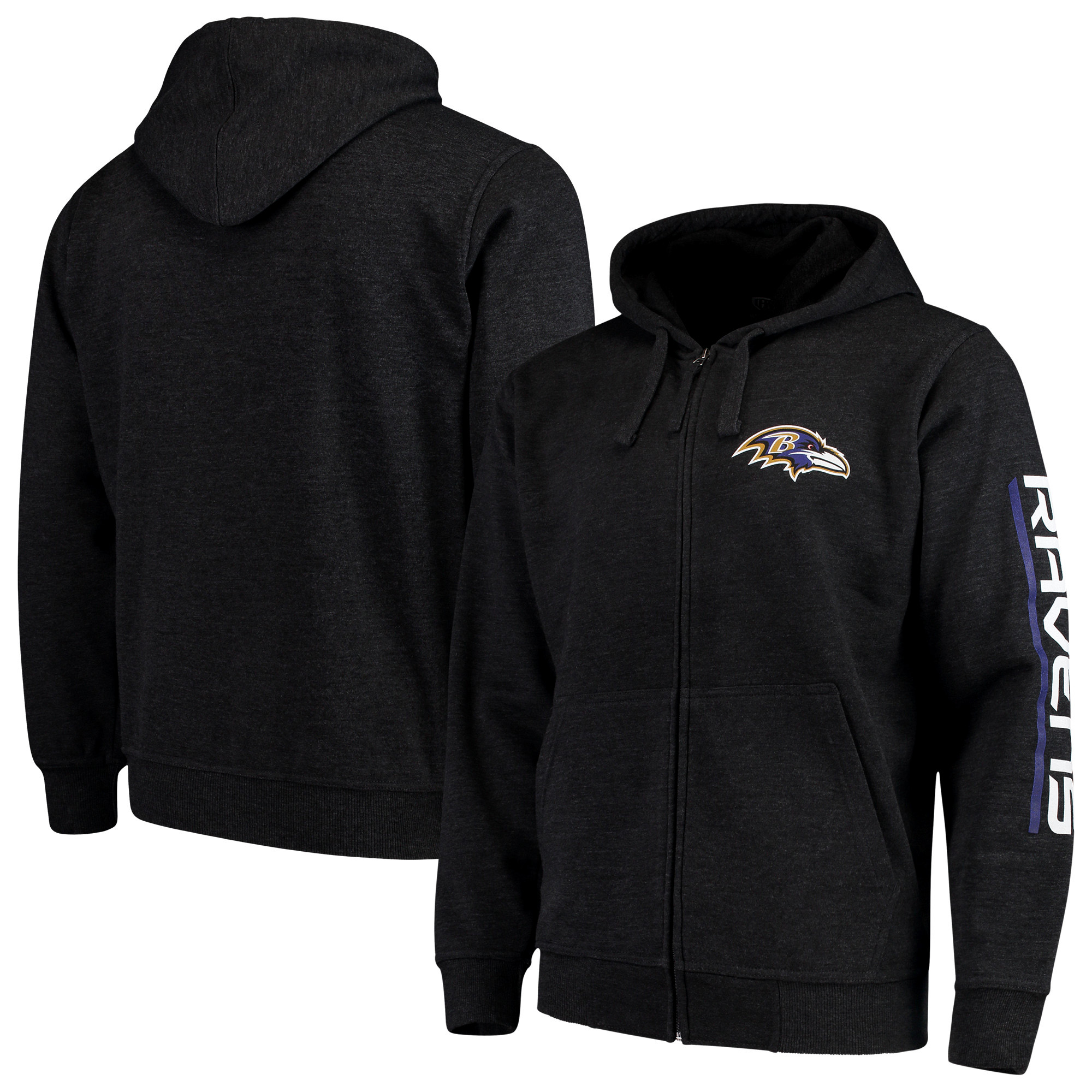 Baltimore Ravens G-III Sports by Carl Banks Post Route Full-Zip Hoodie - Charcoal