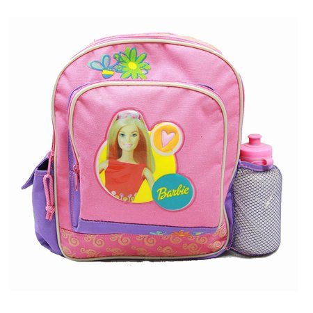 Small Backpack - - w/ Water Bottle - Purple/Pink New School Bag
