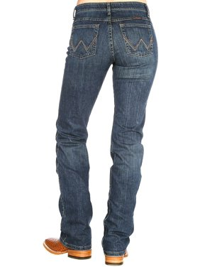 11ad590d794d2 Product Image Wrangler Q-Baby Womens Ultimate Riding Jean Mid-Rise Boot Cut  - Tuff Buck