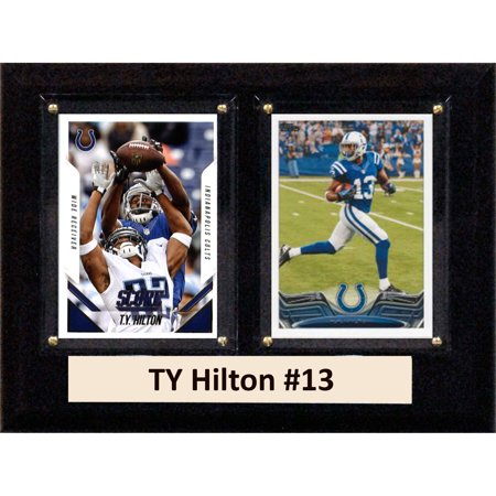 - C&I Collectables NFL 6x8 TY Hilton Indianapolis Colts 2-Card Plaque