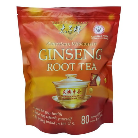 Prince Of Peace Ginseng Tea (Prince of Peace American Wisconsin Ginseng Root Tea 80 Tea Bags Net 5.1)